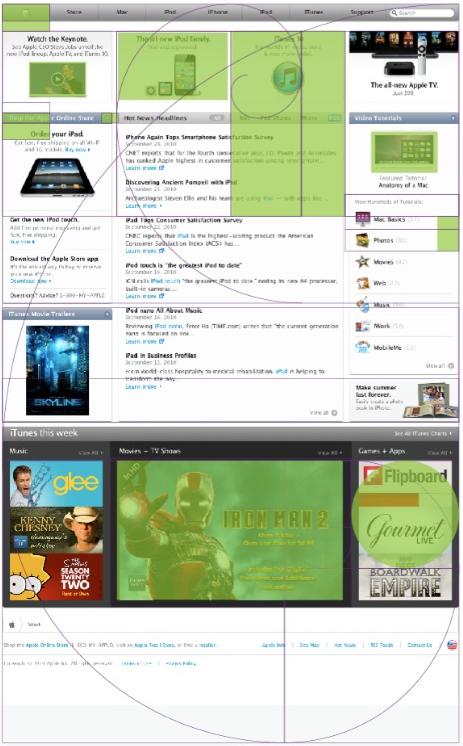 애플의 웹 사이트에 녹여낸 황금 디자인