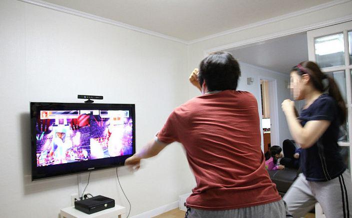 kinect 게임장면